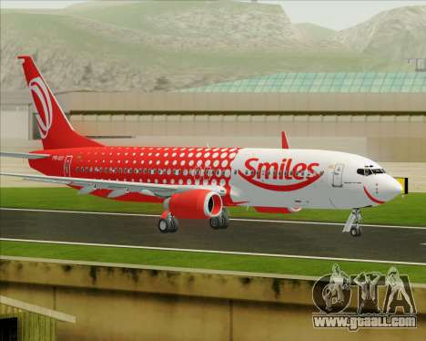 Boeing 737-800 Gol Transportes Aéreos for GTA San Andreas inner view