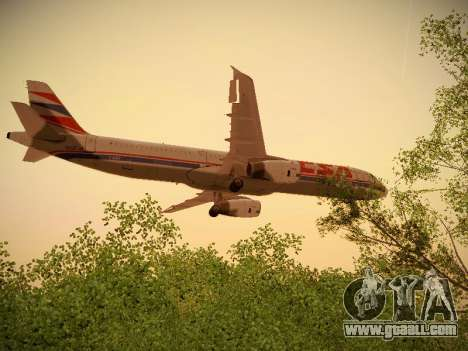 Airbus A321-232 Czech Airlines for GTA San Andreas bottom view