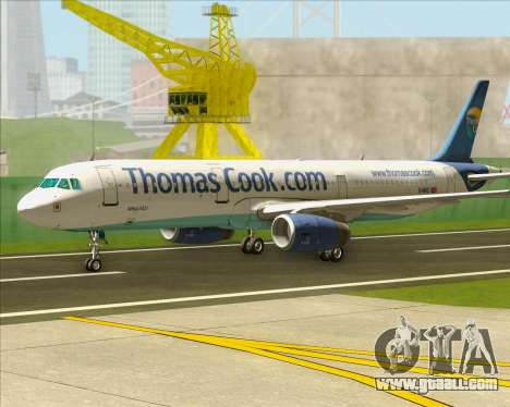 Airbus A321-200 Thomas Cook Airlines for GTA San Andreas left view