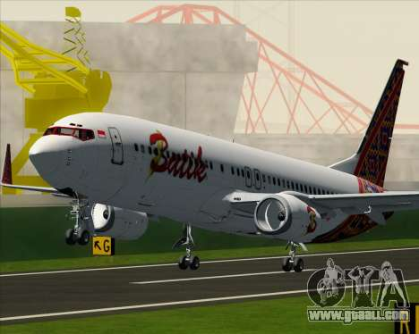Boeing 737-800 Batik Air for GTA San Andreas wheels