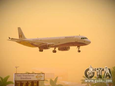 Airbus A321-232 Monarch Airlines for GTA San Andreas bottom view