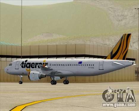 Airbus A320-200 Tigerair Australia for GTA San Andreas engine
