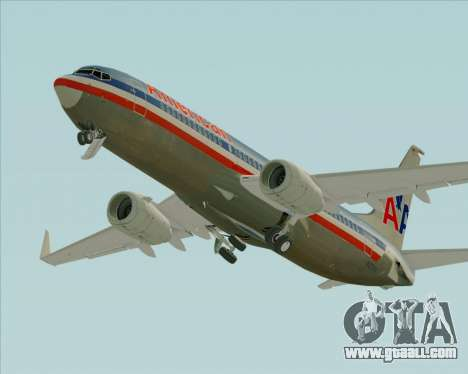Boeing 737-800 American Airlines for GTA San Andreas upper view