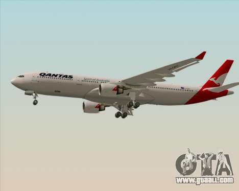 Airbus A330-300 Qantas (New Colors) for GTA San Andreas inner view
