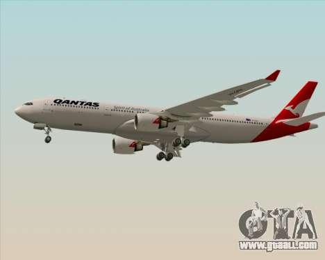Airbus A330-300 Qantas (New Colors) for GTA San Andreas inner view
