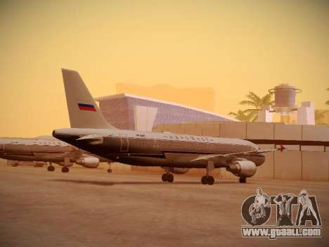 Airbus A320-214 Aeroflot Retrojet for GTA San Andreas back left view