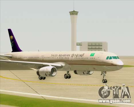 Airbus A321-200 Saudi Arabian Airlines for GTA San Andreas bottom view
