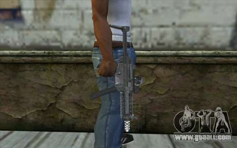 Silver MP5 for GTA San Andreas third screenshot