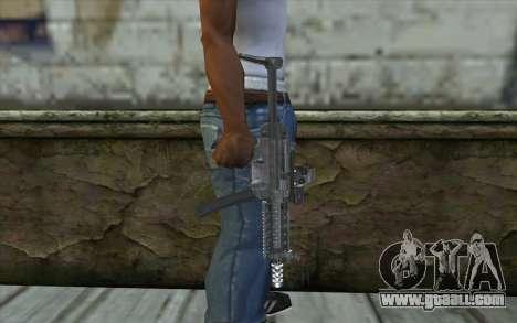 Silver MP5 for GTA San Andreas third screenshot