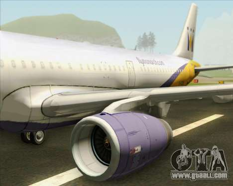 Airbus A321-200 Monarch Airlines for GTA San Andreas engine