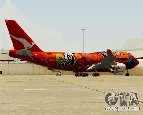 Boeing 747-400ER Qantas (Wunala Dreaming) for GTA San Andreas wheels
