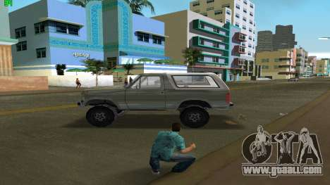 Ford Bronco 1985 for GTA Vice City left view