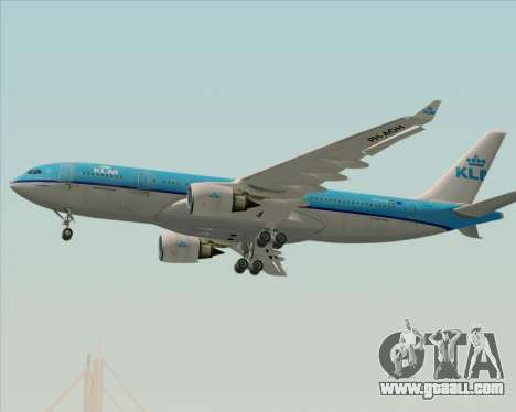 Airbus A330-200 KLM - Royal Dutch Airlines for GTA San Andreas upper view