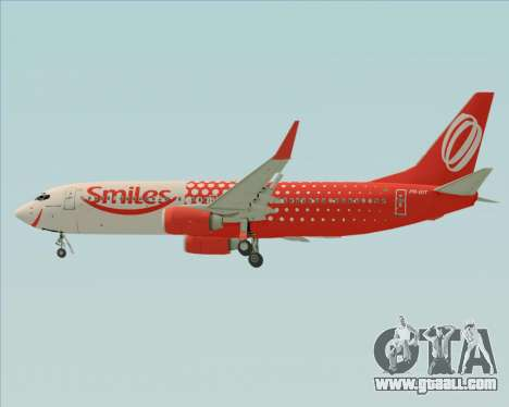 Boeing 737-800 Gol Transportes Aéreos for GTA San Andreas upper view