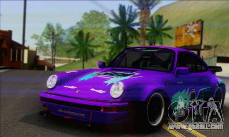 Porsche 930 Turbo Look 1985 Tunable for GTA San Andreas upper view