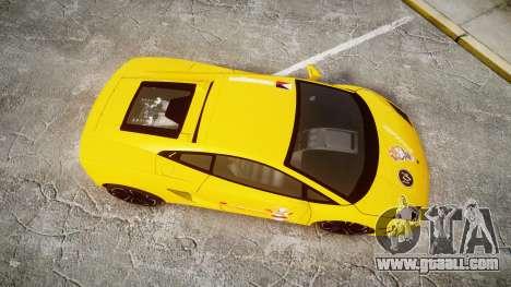Lamborghini Gallardo 2013 Honoka Kousaka for GTA 4 right view