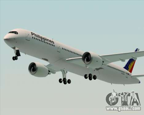 Airbus A350-900 Philippine Airlines for GTA San Andreas right view