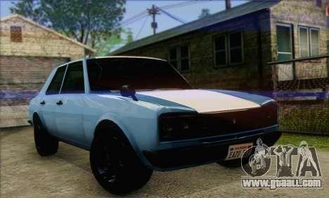 Vulcar Warrener V2 for GTA San Andreas