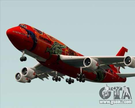 Boeing 747-400ER Qantas (Wunala Dreaming) for GTA San Andreas inner view