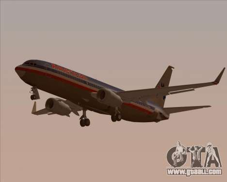 Boeing 737-800 American Airlines for GTA San Andreas bottom view