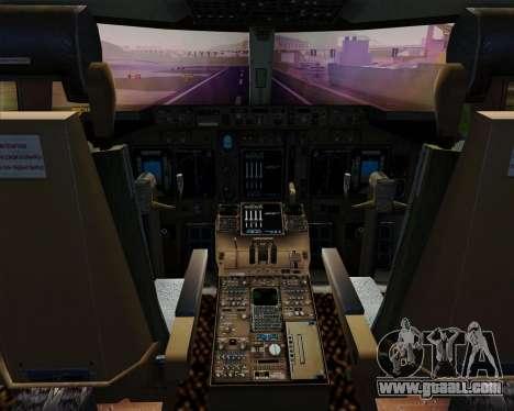 Boeing 747-400ER Qantas (Wunala Dreaming) for GTA San Andreas interior