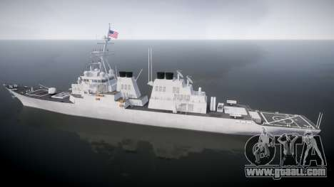 US Navy Destroyer Arleigh Burke for GTA 4 left view