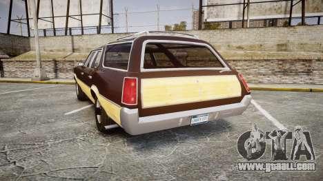 Oldsmobile Vista Cruiser 1972 Rims2 Tree5 for GTA 4 back left view