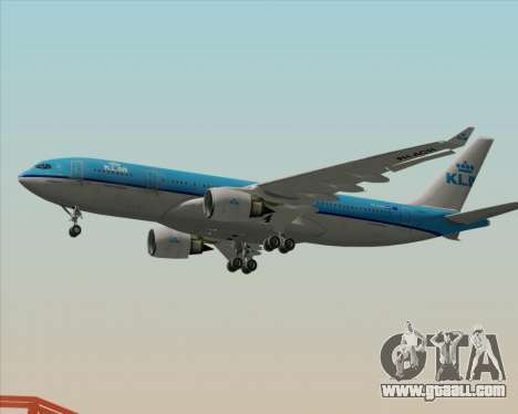 Airbus A330-200 KLM - Royal Dutch Airlines for GTA San Andreas back left view