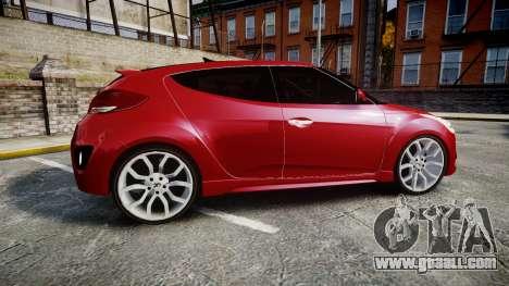 Hyundai Veloster Turbo 2012 for GTA 4 left view