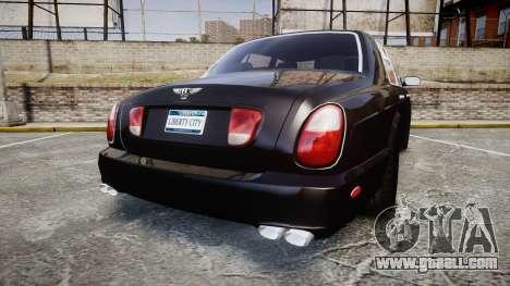 Bentley Arnage T 2005 Rims2 Chrome for GTA 4 back left view