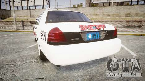 Ford Crown Victoria LC Sheriff [ELS] for GTA 4 back left view