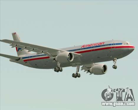 Airbus A300-600 American Airlines for GTA San Andreas interior