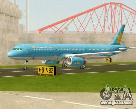 Airbus A321-200 Vietnam Airlines for GTA San Andreas upper view