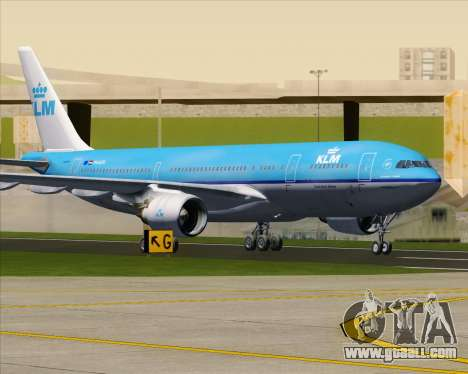 Airbus A330-200 KLM - Royal Dutch Airlines for GTA San Andreas bottom view