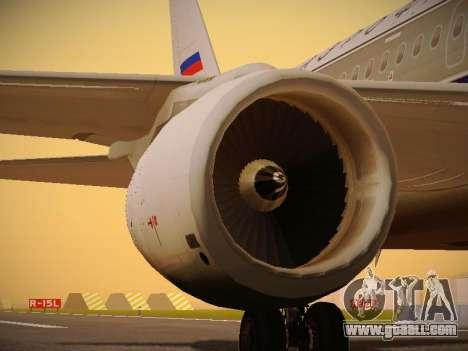 Airbus A320-214 Aeroflot Retrojet for GTA San Andreas engine