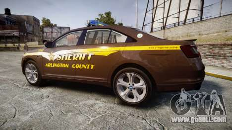 Ford Taurus Sheriff [ELS] Virginia for GTA 4 left view