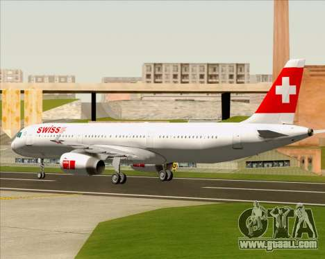 Airbus A321-200 Swiss International Air Lines for GTA San Andreas back view