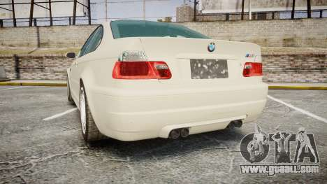 BMW M3 E46 2001 Tuned Wheel White for GTA 4 back left view
