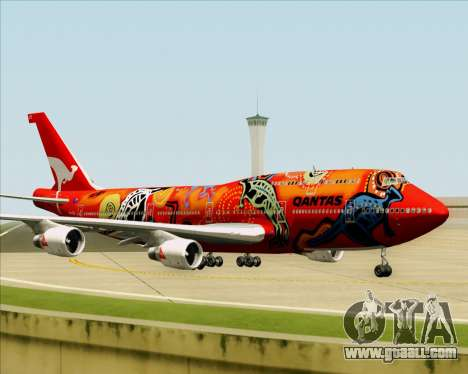 Boeing 747-400ER Qantas (Wunala Dreaming) for GTA San Andreas upper view