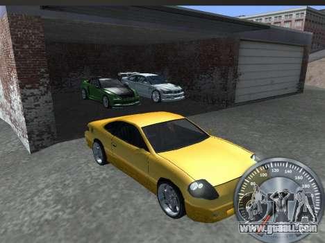 Classic metal speedometer for GTA San Andreas forth screenshot