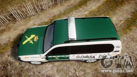 Toyota Land Cruiser Guardia Civil Cops [ELS] for GTA 4 right view