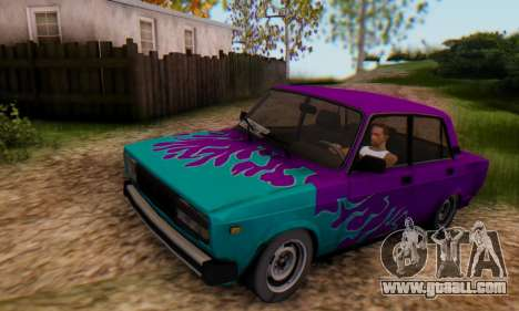 VAZ 2107 Blue Flame for GTA San Andreas