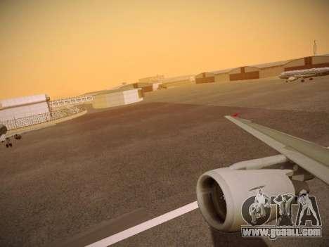 Airbus A320-214 Aeroflot Retrojet for GTA San Andreas wheels