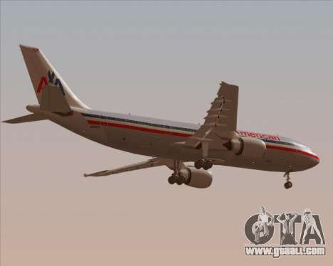 Airbus A300-600 American Airlines for GTA San Andreas bottom view
