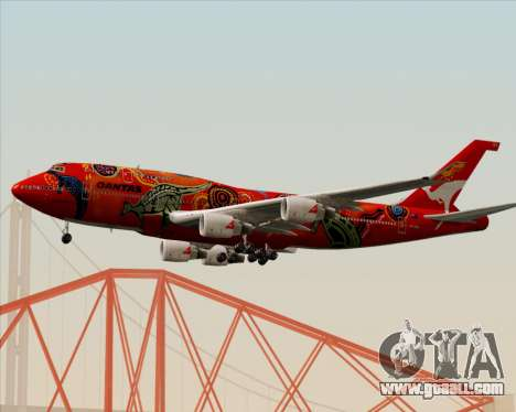 Boeing 747-400ER Qantas (Wunala Dreaming) for GTA San Andreas back left view