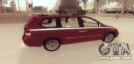Kia Carnival for GTA San Andreas left view