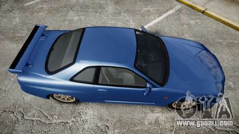 Nissan Skyline R-34 V-spec for GTA 4 right view