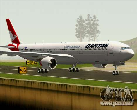 Airbus A330-300 Qantas (New Colors) for GTA San Andreas bottom view