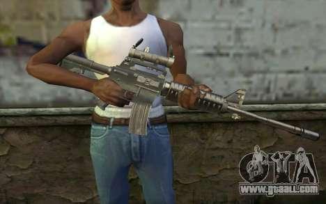 M4 from Hitman 2 for GTA San Andreas third screenshot