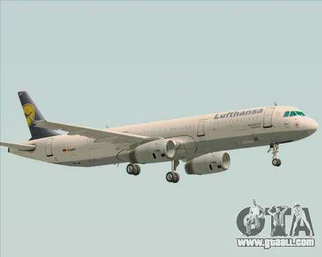 Airbus A321-200 Lufthansa for GTA San Andreas side view